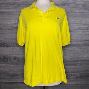 Lacoste Short Sleeve Polo Women's size 6 Yellow
